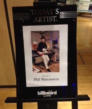 フィル・マンザネラ来日公演@Billboard Live東京(6/30)ライヴレポート