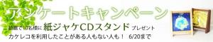 木製紙ジャケットスタンドが当たる!カケレコ『アンケート・キャンペーン』を本日より開催!!